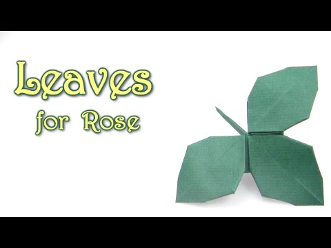 Origami leaves for rose kawasaki origami easy tutorial youtube origami leaves for rose kawasaki origami easy tutorial mightylinksfo