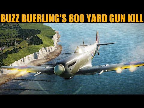 "1942 ""Buzz"" Beurling's 800 Yard Gun Kill Claim Over Malta | DCS WORLD Reenactment"