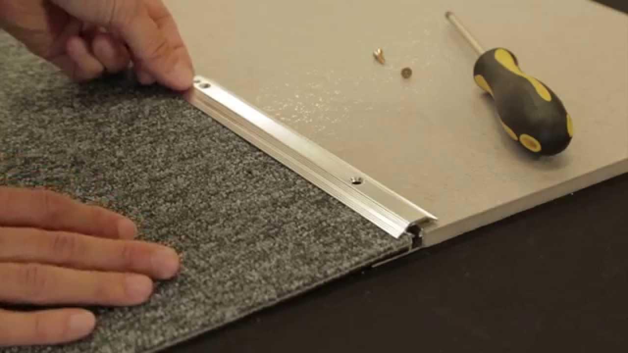 Carpet To Tile Trim - YouTube