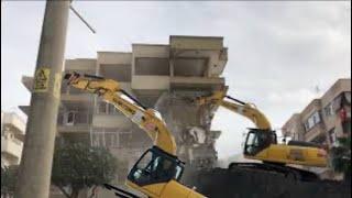 Türk usulü 5 katlı bina yıkılımı
