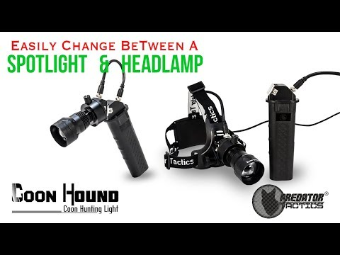 Coon Hunting Light - Spotlight & Headlamp Hybrid - Coon Hound By Predator Tactics