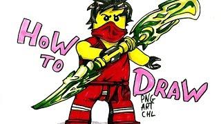 How to Draw Kai - Lego Ninjago