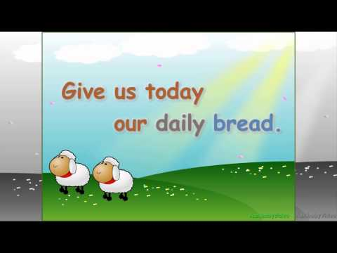 Learn Our Father Prayer / The Lord's Prayer For Children & Kids - HD Read Along Nursery Rhymes