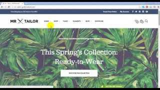 Mr. Tailor - Responsive WooCommerce Theme Preview