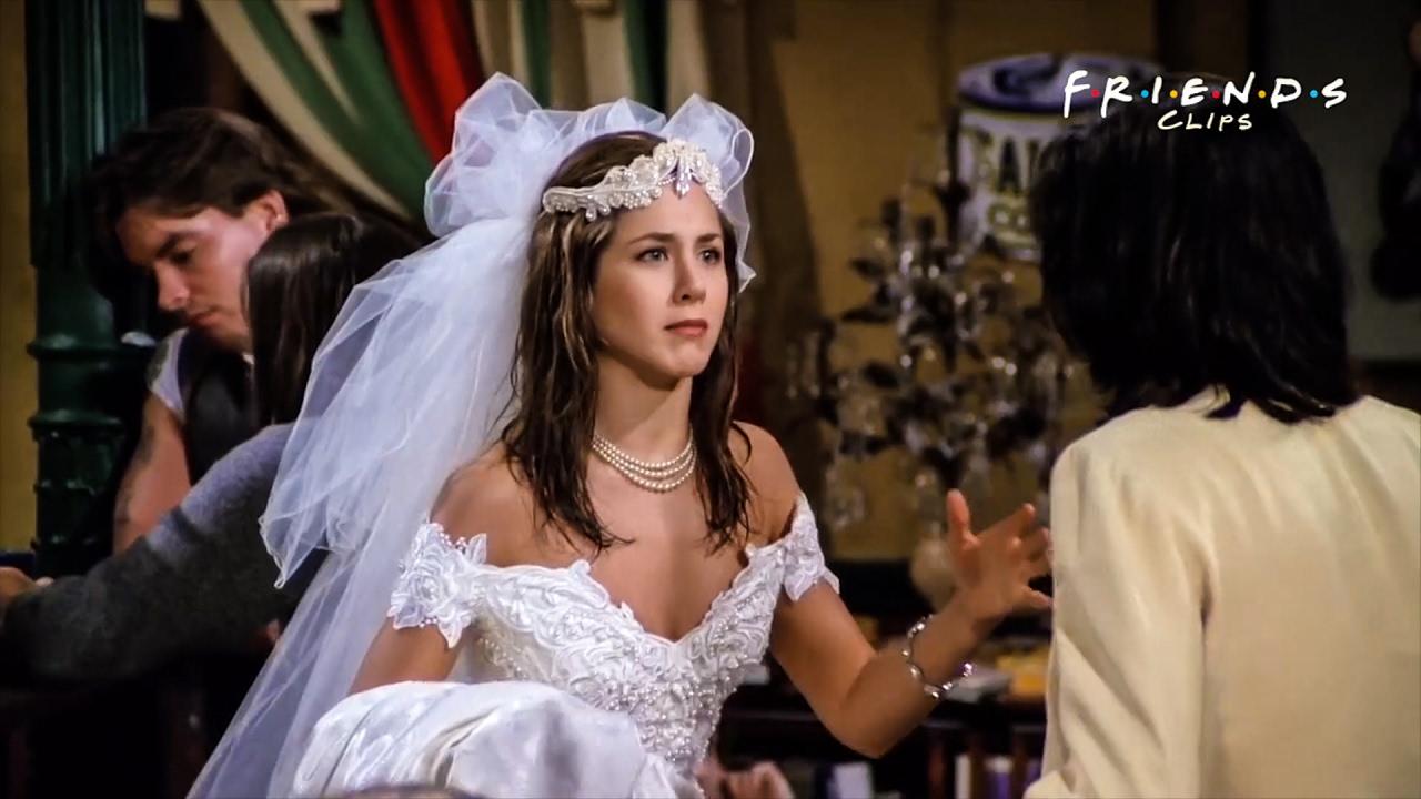 Friends Rachel In Wedding Dress Youtube