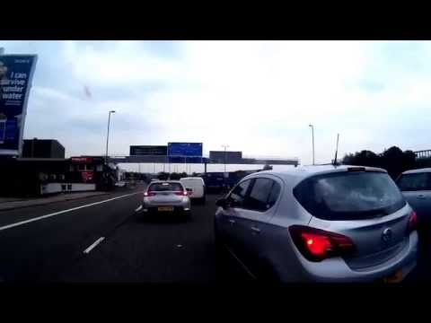 Aston Express Way A38, filtering through traffic