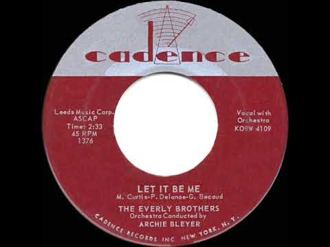 1960 HITS ARCHIVE: Let It Be Me - Everly Brothers - YouTube