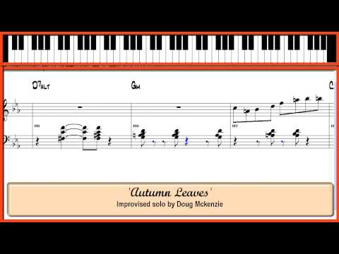 'Autumn Leaves' Jazz piano Lesson (HD and Widescreen Version)
