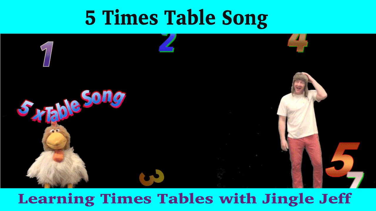 times tables 1 12 5 x table multiplication song