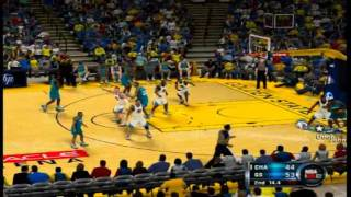 NBA 2K12 Charlotte Hornets ('92-'93) vs. Golden State Warriors ('10-'11) Highlights