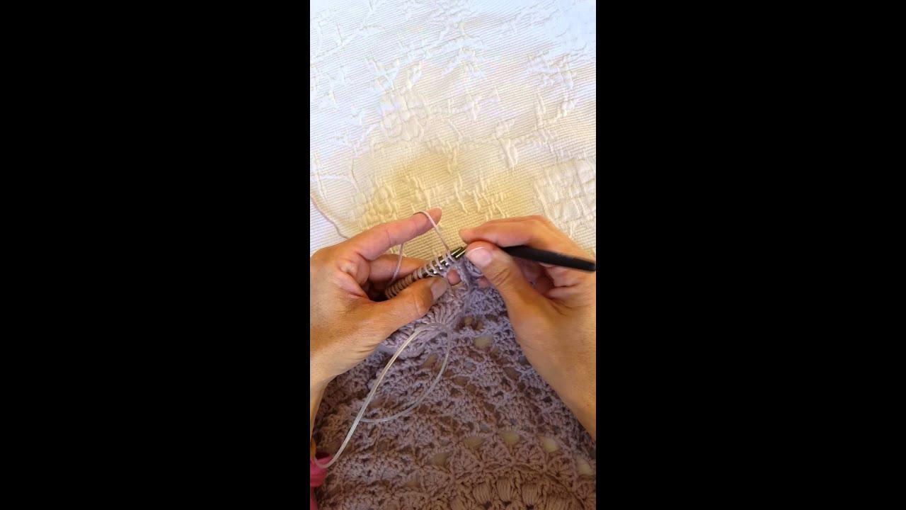 Kreisweste Crochetalong Der Broomstick Stitch 1 Reihe Schlaufen