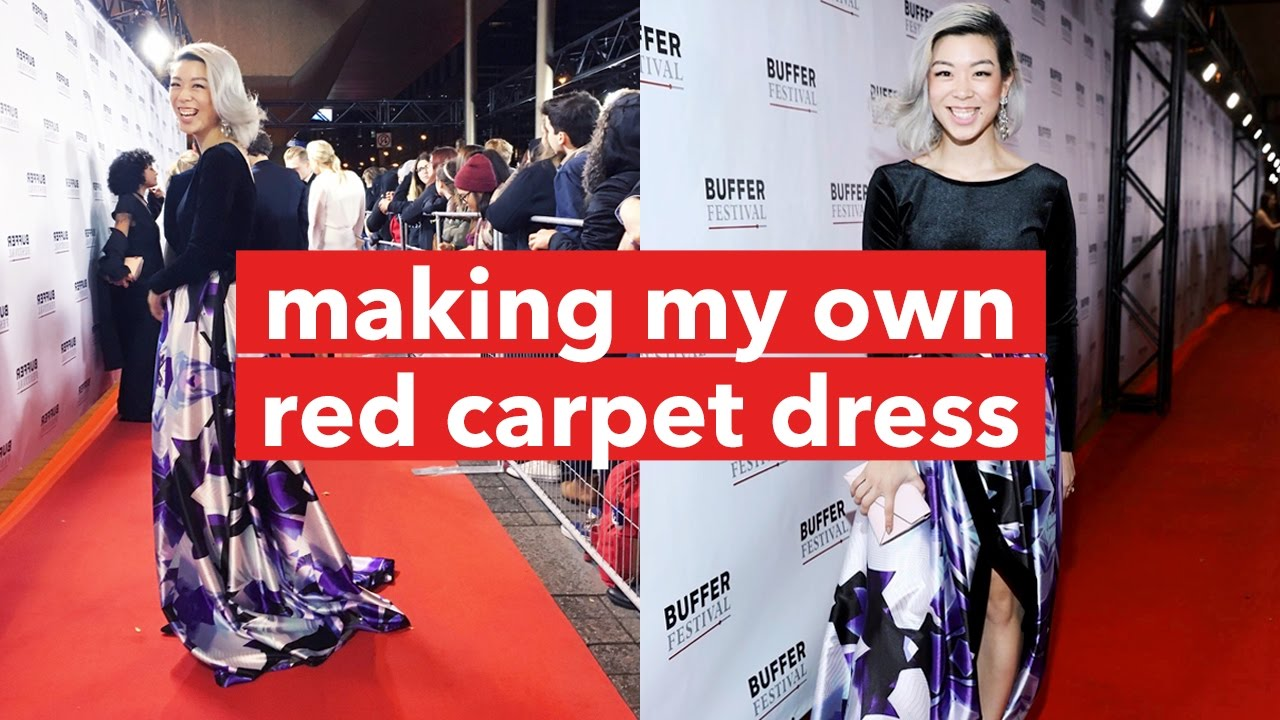 Grwm Diy Red Carpet Dress In A Day Withwendy Youtube