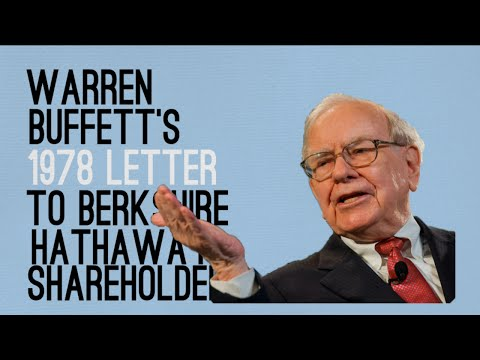 Warren Buffett's 1978 Letter to Berkshire Shareholders - Animated