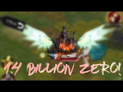 PSA ZEROING 1.4 BILLION AGH CASTLE! CLASH OF KINGS - MV