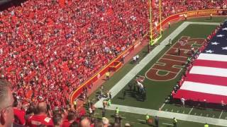 B2 Stealth Bomber flyby over Arrowhead Stadium 9/11/2016