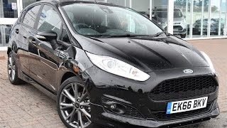Used Ford Fiesta 1.0 EcoBoost 125 ST-Line 5dr Shadow Black 2016