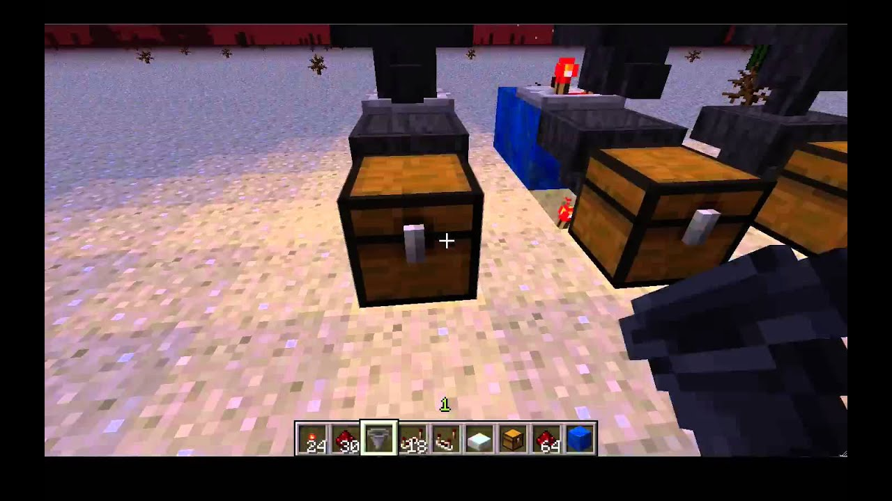 Minecraft How To Make A Hopper Sorting System Tutorial