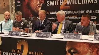 BEEF WITH BEEFY!! - LIAM SMITH & LIAM WILLIAMS GO AT IT WITH FIERY, HEATED EXCHANGE IN PRESSSER