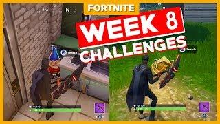 ALLE WEEK 8 CHALLENGES! - Fortnite