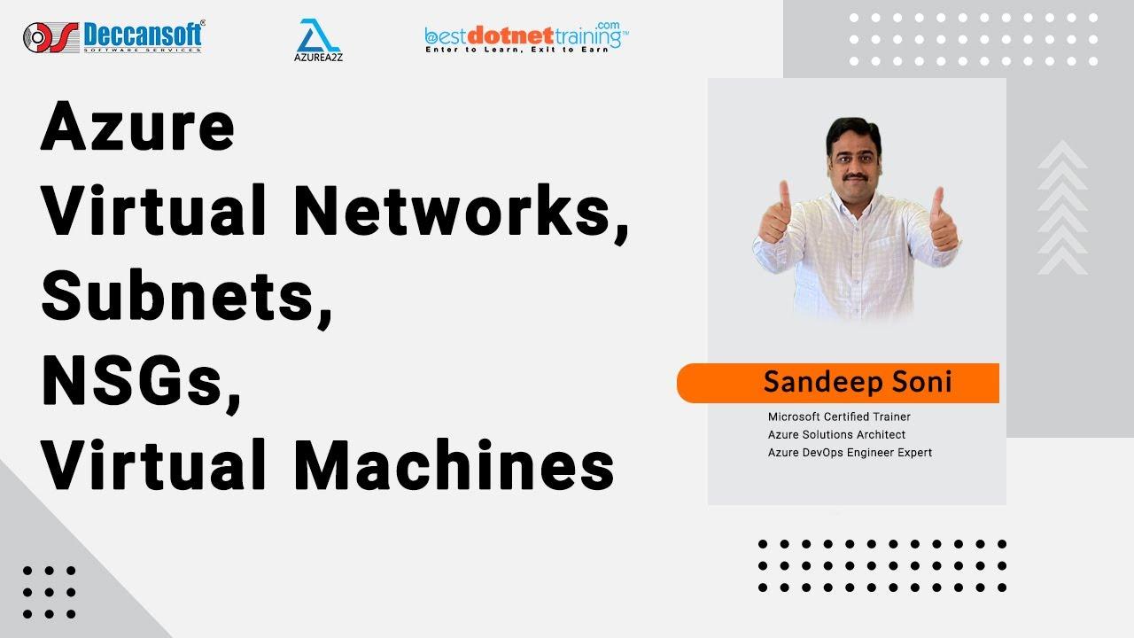 AZ-104 Tutorial Day-2   Azure Virtual Networks, Subnets, NSGs, VMs   Azure VNet Tutorial