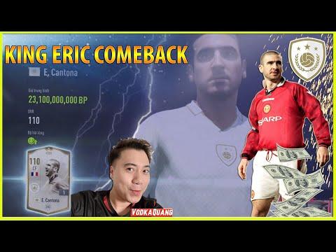 Vodka ICON | Bom tấn King Eric Cantona ICON TRỞ LẠI khai màn dàn Huyền Thoại FIFA mới