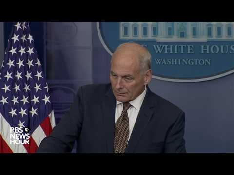 WATCH: Sarah Sanders, John Kelly hold White House news briefing