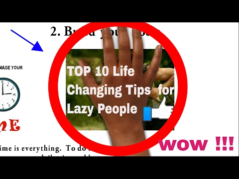 Top 10 Tips for Changing your Lazy Lifestyle 2017