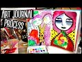 Art Journal Process Video | Journal with me Session | Jane Davenport Art Journal