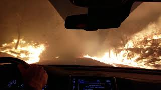 Camp Fire. Dramatic and prayerful escape from Paradise, Ca fire.