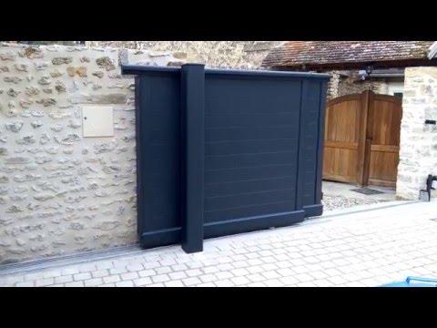 portail t lescopique coulissant deux vantaux. Black Bedroom Furniture Sets. Home Design Ideas