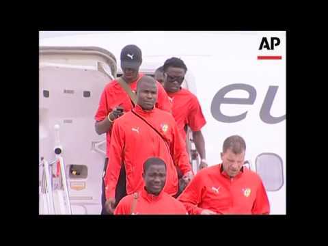 Togo is first team to arrive ahead of upcoming football World Cup