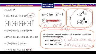 muratatikmatematik.com/ÜSLÜ SAYILAR ÖRNEK 7/ muratatik.net//Murat Atik Matematik