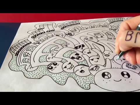 Drawing the music 6 - Zentangle Music Doodle