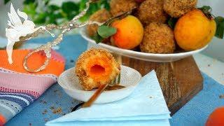 Klassische Marillenknödel aus Brandteig - Marillenknödel Rezept - Aprikosenklöße - Kuchenfee