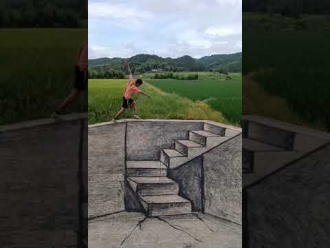 Download Drawing the Stair 3D on the road Look like real.  #Sort - AmadaTH Draw