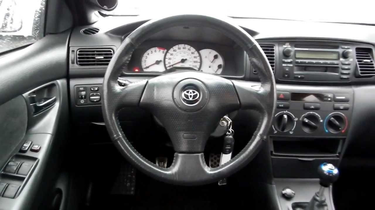 2004 toyota corolla s white stock l305651 interior youtube for Toyota corolla 2003 interior