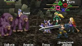 Valkyrie Profile ps1 gameplay