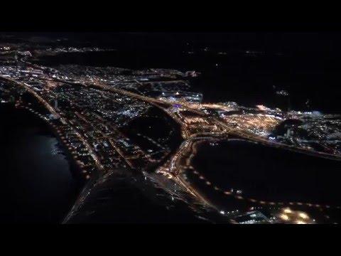 Night Flight over Jönköping, Sweden