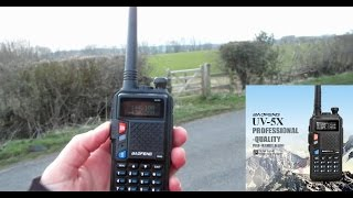 Baofeng UV 5X - Field Test - Power Test - SDR Record SDR RTL2832U & R820T2 USB