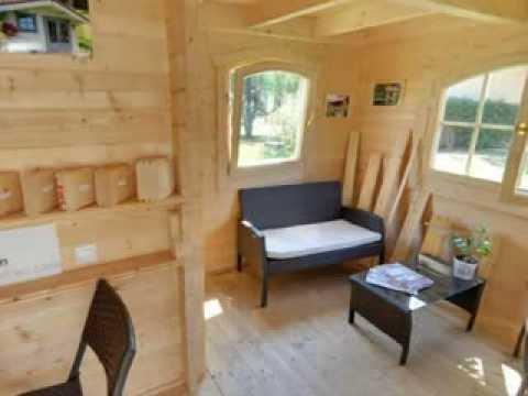 Un exemple de Chalet en bois de 12m² + 8m² de terrasse couverte ...
