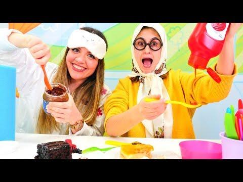 Şans yemeği Challenge! Ayşe ve İrem ile eğlenceli oyun videosu