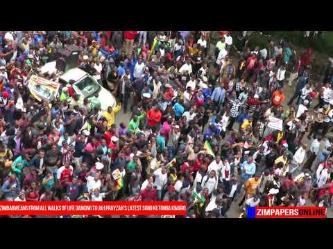 Zimbabweans from all walks of life dancing to Jah Prayzah's latest song Kutonga Kwaro