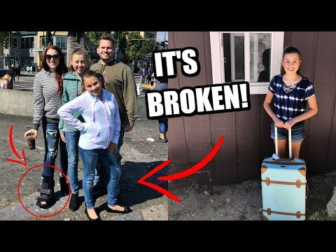 Taking Our Teens On A Trip With A BROKEN Foot!