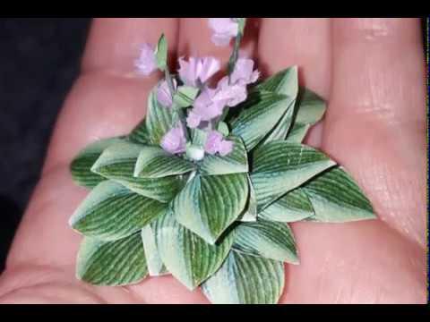 Diy Miniature Hosta Plants For Your Dollhouse Youtube