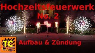 Großes Hochzeitsfeuerwerk (No.2) am Schloss Moyland [Erklärung Aufbau & Zündung]