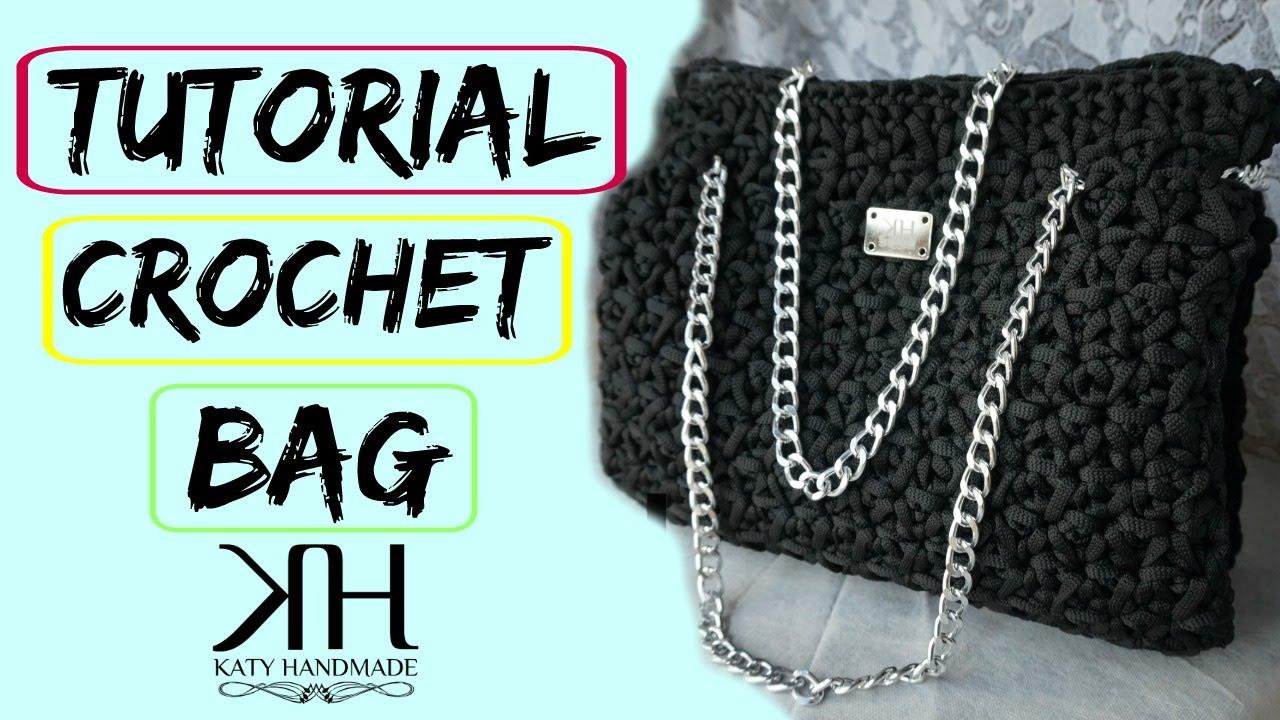 "Célèbre Tutorial uncinetto borsa ""Emily"" | Crochet bag || Katy Handmade  TJ37"