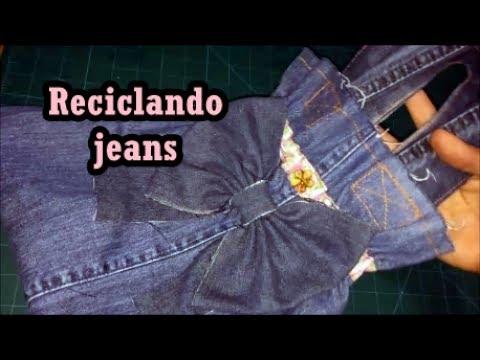 Diy: Bolsa com perna de calça jeans#reciclandojeans