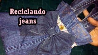 Diy: Bolsa com perna de calça jeans – Reciclando