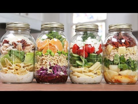 Pasta Salads In A Jar | Back-To-School Lunch Idea
