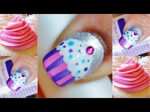 Cute easy cupcake nail art short nails youtube cute easy cupcake nail art short nails prinsesfo Gallery